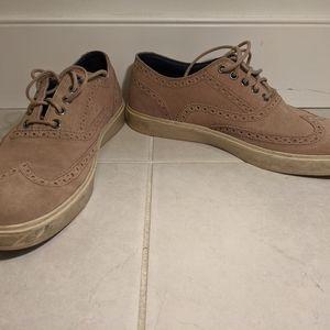 Cole Haan Beige Suede Wingtip Sneaker Size 10 Shoe